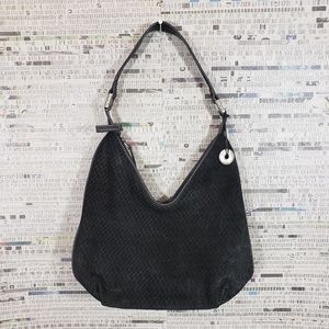 The Sak Black Suede Leather Shoulder Bag